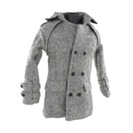 Manteau Trench Coat (Gris)
