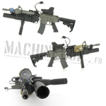 M4A1 SOPMOD rifle w/ M203 40MM grenade launcher