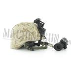 USMC helmet w/ helmet cover with AN/PVS-14 NVG  (Desert Marpat)