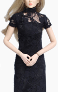Female Chi-Pao Dress (Black)