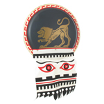 Greek Hoplite Lion Shield (Black)
