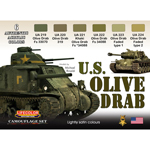 Set peintures US Olive Drab