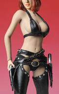 Female Sexy Cowgirl Clothing Set (Black)