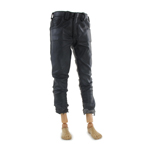 Battle Damaged Leather Pants (Black)