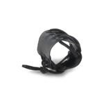 Protection de poignet en cuir (Noir)