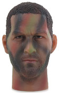 Caucasian Male Camo Headsculpt