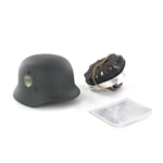 Casque Md 35 Elite double insignes (Feldgrau)