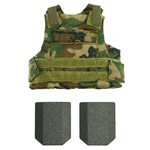 Body armor woodland camo