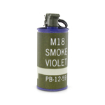 Purple Mk18 smoke grenade