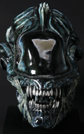 Aliens - Alien Warrior Life-Size Head Props Replica (Blue Edition)