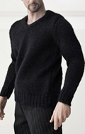 V-neck Black Sweater