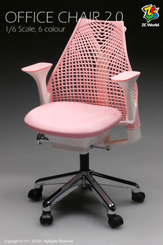 Pink office chair version 2