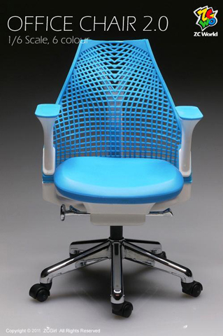 Chaise de bureau Version 2 (Bleu)