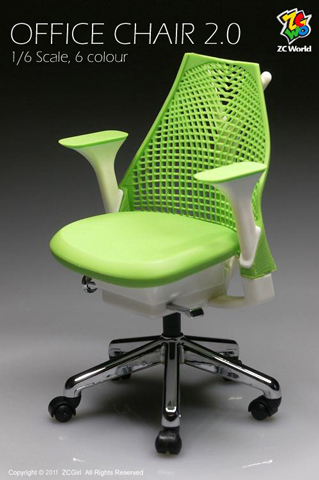 Green Office Chair Version 2