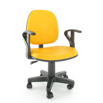 Yellow orange office chair