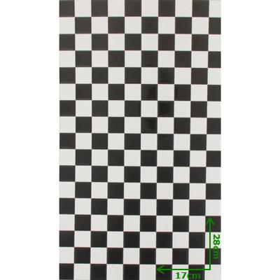 Carrelage mural azulejos noir et blanc 28cmx17cm for Carrelage mural noir