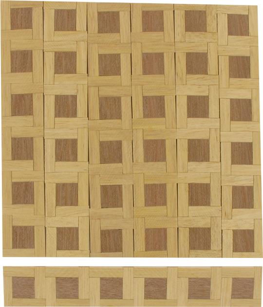 12 plaques de parquet damier en bois 15cmx2 5cm machinegun. Black Bedroom Furniture Sets. Home Design Ideas