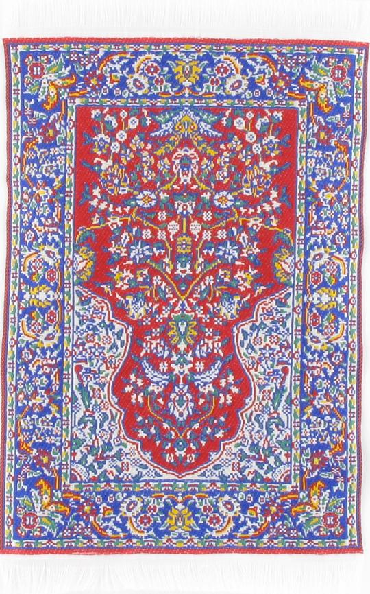 petit tapis tiss mural persan rouge 13 5cmx10cm. Black Bedroom Furniture Sets. Home Design Ideas
