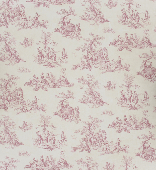 papier peint toile de jouy rose 54cmx30cm machinegun. Black Bedroom Furniture Sets. Home Design Ideas