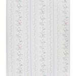 Wallpaper -  blue striped / flower garland (54cmx30cm)