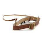 SA brown belt with gold Ardillon buckle & cross-belt