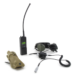 MBITR Radio w/ pouch (tan) housse and SORDIN headset