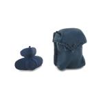 Masque à gaz avec pochette en cuir (Bleu)