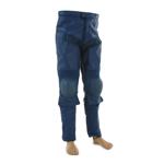 Pantalon en cuir renforcé (Bleu)