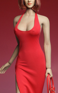 Female Sexy Dress Set (Red)