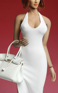 Female Sexy Dress Set (White)