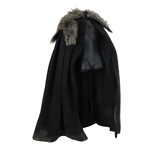 Cape with Fur Collar (Black)