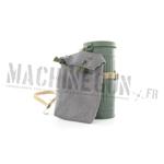Boîte masque à gaz M38 (métal) avec housse pour toile anti Ypérite fin de guerre