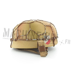 German fallschirmjager helmet w/ net sand color double decals