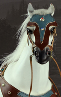 Horse with accessories (White)