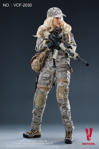 Digital Camouflage Women Soldier - Max