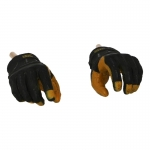 4.0 Heavy Duty Leather Work Gloved Hands (Yellow)