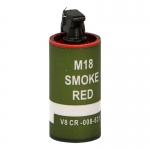 M18 Red Smoke Grenade (Olive Drab)