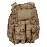 6094K MP7 Quadruple Magazines Pouch Front Pannel (AOR1)