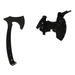 Tactical Tomahawk with Kydex Sheath (Black)