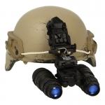 Worn Mich 2000 Helmet with PVS-15 NVG (Beige)