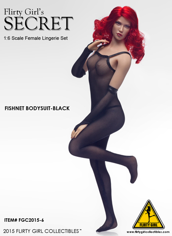 Set lingerie Secret body en résille Femme (Noir)