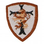Devgru Gold Squadron Crusader Patch (Brown)