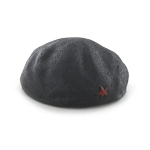 Red Star Beret (Black)