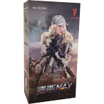 figurine Digital Camouflage Women Soldier - Max