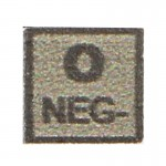 Blood Type Patch O Neg (Coyote)