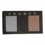 Low Visibility French Flag Patch (Black)