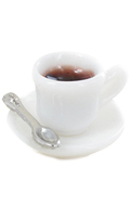 Cup Of Coffee with Spoon (White)
