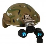 Fast Ballistic Helmet with AN/PVS-15 NVG (Multicam)