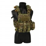 AVS Plate Carrier with 5,56mm Triple Magazines Pouch and Backpack (Multicam)