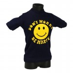 T-shirt Don't Worry Be Happy (Bleu)
